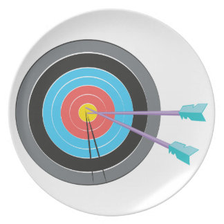Archery Target Party Plates