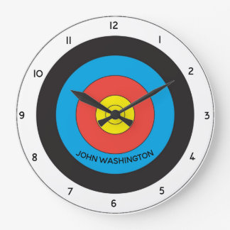 Archery Target Personalized Wall Clock