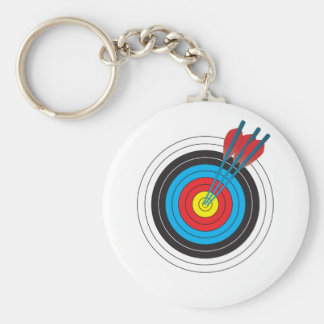 Archery Target with Arrows Basic Round Button Keychain