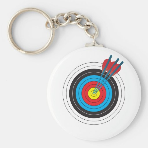Archery Target with Arrows Key Chains