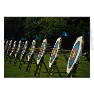 Archery targets near Brentwood, Essex, U.K. Card