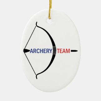 ARCHERY TEAM CERAMIC ORNAMENT