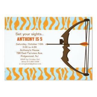 Archery With Colourful Camo Birthday Invitation