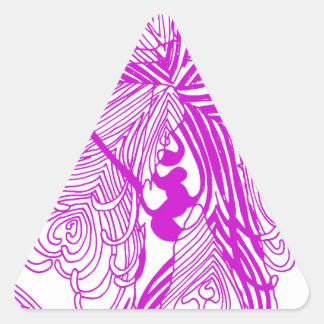 Archery Woman Triangle Sticker