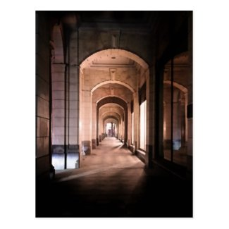 Arches in architecture postcard