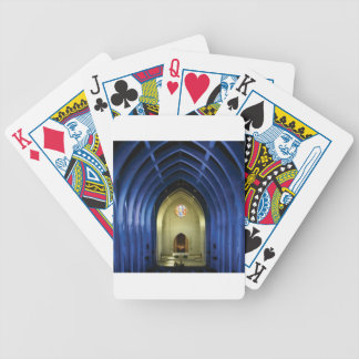 Arches in the blue church bicycle playing cards