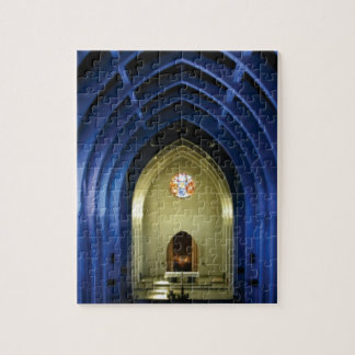 Arches in the blue church jigsaw puzzle