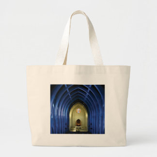 Arches in the blue church large tote bag