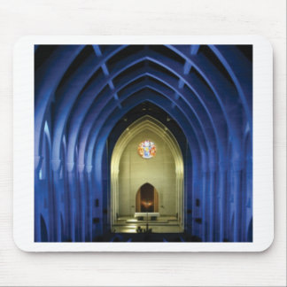 Arches in the blue church mouse pad