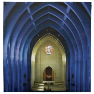 Arches in the blue church napkin
