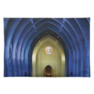 Arches in the blue church placemat