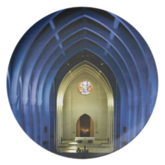 Arches in the blue church plate