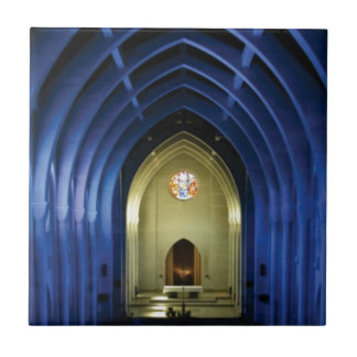 Arches in the blue church tile
