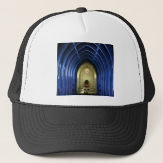 Arches in the blue church trucker hat