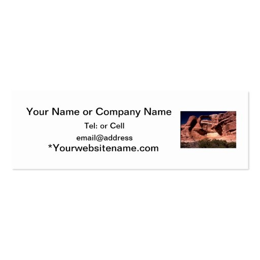 arches national park arches way up high business card template