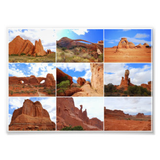 Arches National Park Collage Photographic Print