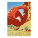 Arches National Park Colorado co Vintage Travel Poster