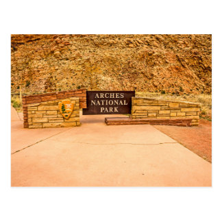 Arches National Park Entrance Sign Postcard