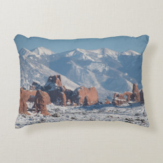 Arches National Park in Winter Accent Pillow