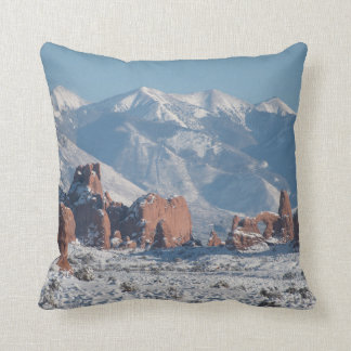 Arches National Park in Winter Throw Pillow