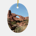 Arches National Park, near Moab, Utah, USA Ceramic Oval Ornament