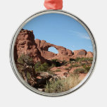 Arches National Park, near Moab, Utah, USA Round Metal Christmas Ornament