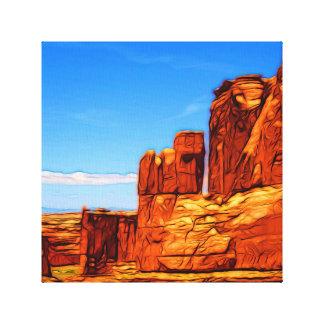 Arches National Park Rocks Canvas Print