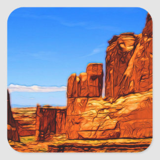Arches National Park Rocks Square Sticker