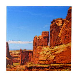 Arches National Park Rocks Tile