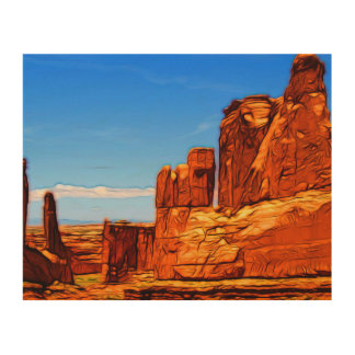 Arches National Park Rocks Wood Wall Art