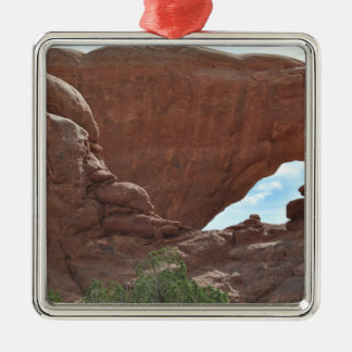 Arches National Park Silver-Colored Square Ornament