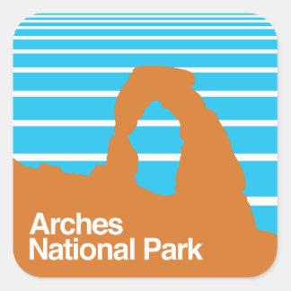 Arches National Park Square Sticker