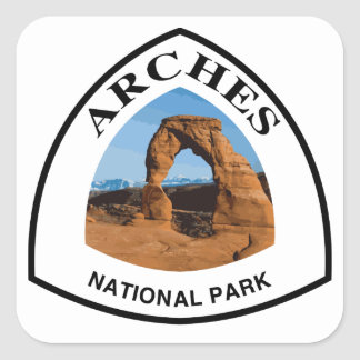Arches National Park Square Sticker