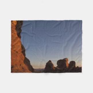 Arches National Park Sunset Fleece Blanket