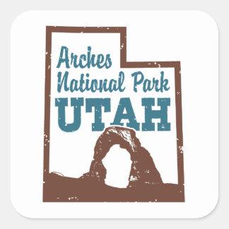 Arches National Park Utah Square Sticker