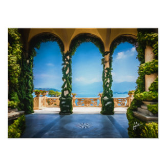 Arches of Italy Elegant Photo Art Poster