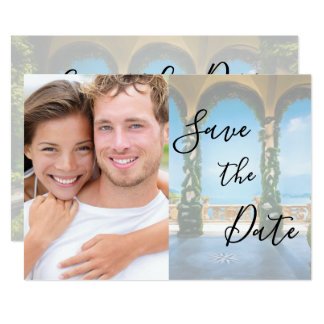 Arches of Italy Elegant Save The Date Photo Card