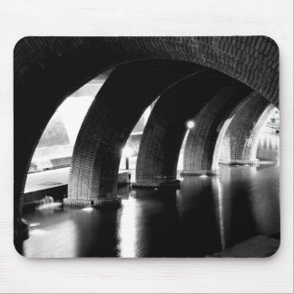 Arches of Saint Lucia, black and white Mouse Pad