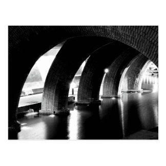 Arches of Saint Lucia, black and white Postcard