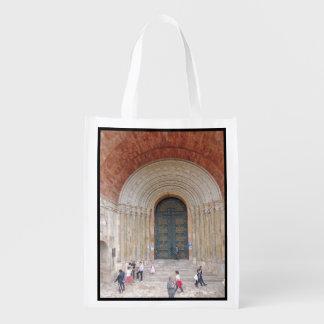 Arches of the Iglesia Cuenca Ecuador Reusable Grocery Bag