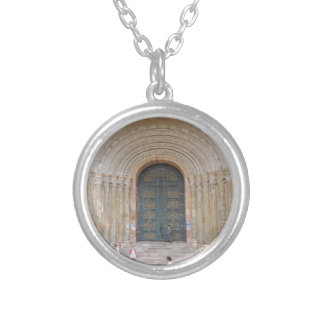 Arches of the Iglesia Cuenca Ecuador Silver Plated Necklace