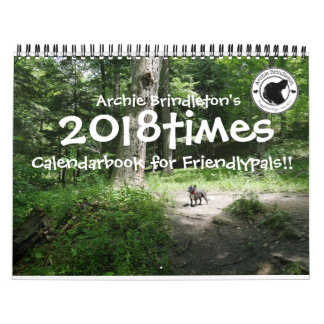 Archie Brindleton's 2018times Calendarbook!! Calendar