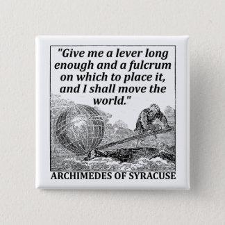 Archimedes Lever 2 Inch Square Button