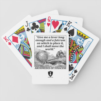 Archimedes Lever Bicycle Playing Cards
