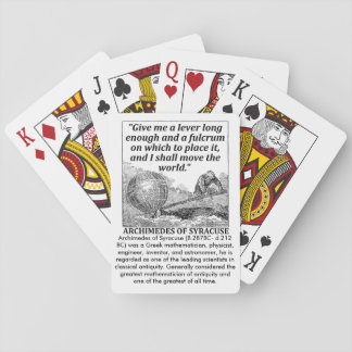 Archimedes Lever Playing Cards