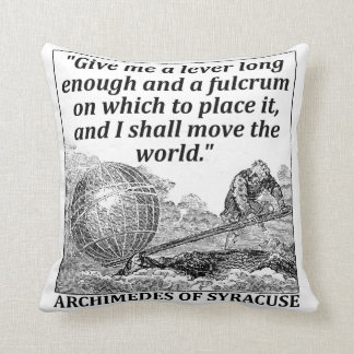 Archimedes Lever Throw Pillow