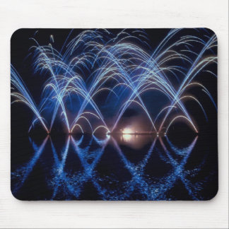 Arching fireballs, Great fireworks on a mousepad