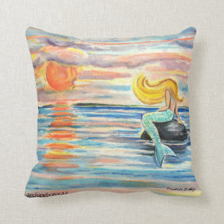"Archipelago144 ""I Must Be A Mermaid"" throw pillow"