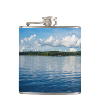 Archipelago on the Baltic Sea coast in Sweden Hip Flask