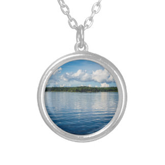 Archipelago on the Baltic Sea coast in Sweden Silver Plated Necklace